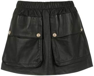 Andrea Bogosian leather skirt