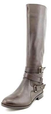 Bar III Dani 1 Women Round Toe Leather Brown Knee High Boot