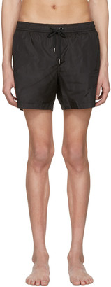 Moncler Black Drawstring Swim Shorts $220 thestylecure.com