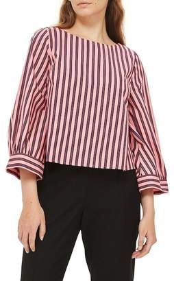 Topshop Stripe Wide Sleeve Top