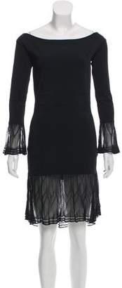 Gianni Versace Long Sleeve Knee-Length Dress