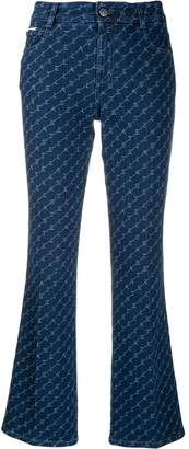 Stella McCartney logo flared jeans