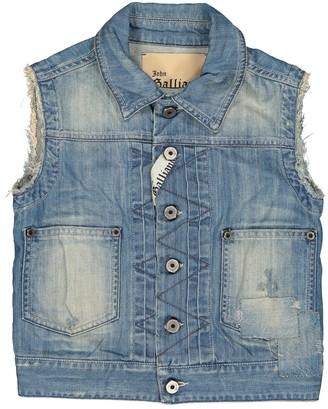 John Galliano Blue Cotton Jacket & Coat