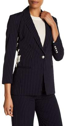 Veronica Beard Taylor Side Lace-Up Blazer