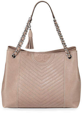 Tory Burch Fleming Large Distressed Leather Tote Bag