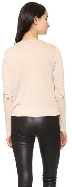 Alice + Olivia AIR by Cross Front Gathered Hem Top