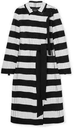 Akris Embroidered Wool-blend Felt Coat - Black