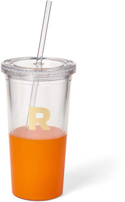 Kate Spade Orange Monogram Insulated Tumbler