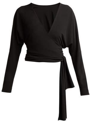 Norma Kamali Dolman Wrap Top - Womens - Black