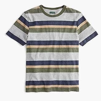 Heavyweight cotton T-shirt in grey stripe