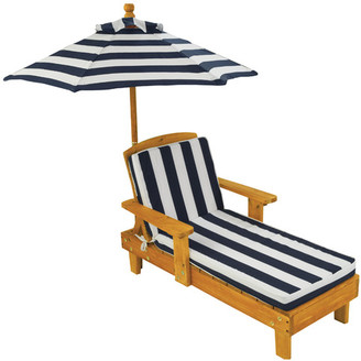 KidKraft Chaise Lounge with Cushion and Umbrella $82 thestylecure.com