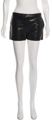J Brand Leather Mini Shorts