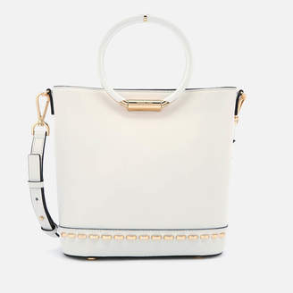 MICHAEL Michael Kors Women's Herron Medium Bucket Bag - Optic White