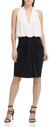 Donna Karan Color-Block Jersey Dress