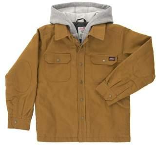 Dickies Genuine  Boys' Long Sleeve Hooded Canvas Overshirt Jacket