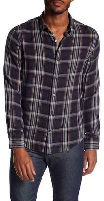 Vince Classic Plaid Trim Fit Shirt