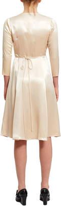 Callipygian Colorblock Wrap Dress