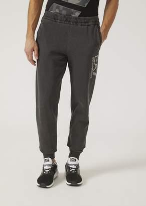 Emporio Armani Ea7 Sweatpants In Washed Cotton