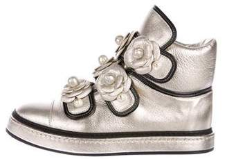 Chanel 2016 Camella High-Top Sneakers