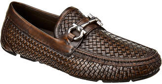 Salvatore Ferragamo Gancini Buckle Leather Loafer