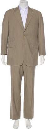 Hermes Striped Wool Suit