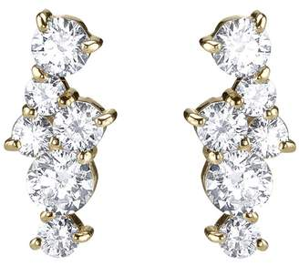 Sydney Evan Cocktail Diamond Bar Stud Earrings