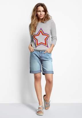 Hush Star Embroidered Denim Shorts