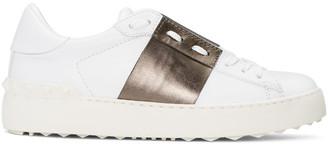 Valentino White & Gunmetal Open Sneakers $695 thestylecure.com