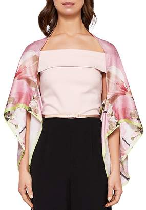 Ted Baker Eleaan Harmony Floral Silk Cape Scarf