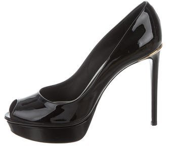 Louis Vuitton Peep-Toe Platform Pumps
