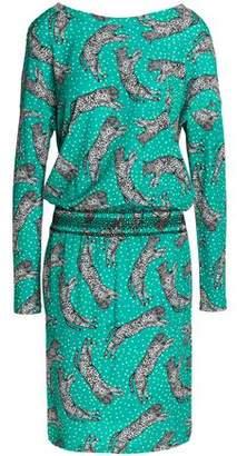Just Cavalli Printed Crepe Dress