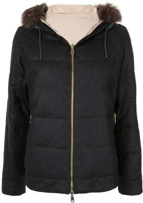 Brunello Cucinelli wool hooded padded jacket