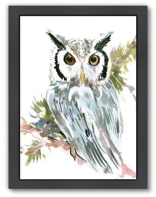 East Urban Home Owl Framed Painting