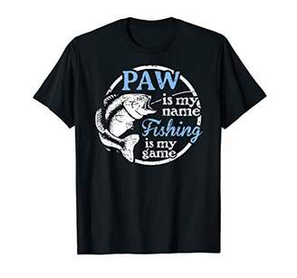 Mens Fishing Paw Fathers Day Gift for Dad fisherman T-Shirt