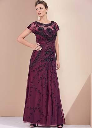 Kaleidoscope Beaded Long Evening Gown