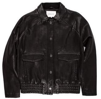 Frame Leather Snap-Front Jacket w/ Tags
