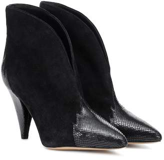 Isabel Marant Archee suede and leather ankle boots