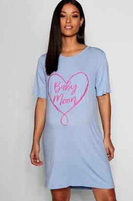 boohoo Maternity Baby Moon Nightie