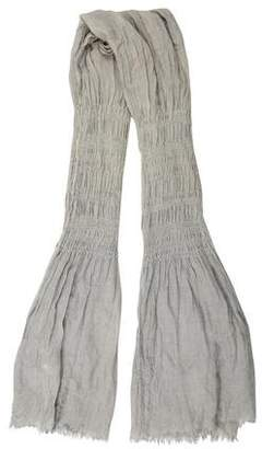 Yigal Azrouel Ruched Raw-Edge Scarf