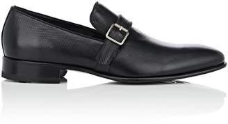 Harris Men's Basket-Weave-Stamped Leather Venetian Loafers