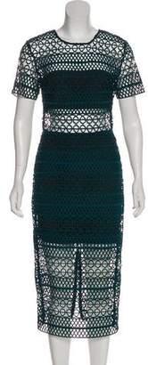 Karina Grimaldi Laser Cut Midi Dress w/ Tags