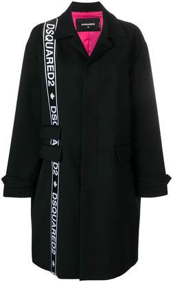 DSQUARED2 side logo double breasted coat