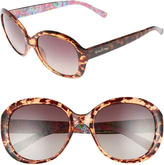 2854693c399 Lilly Pulitzer R) Magnolia 57mm Polarized Round Sunglasses