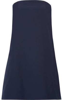 Alice + Olivia Alice Olivia - Zoya Strapless Cotton-poplin Mini Dress - Midnight blue