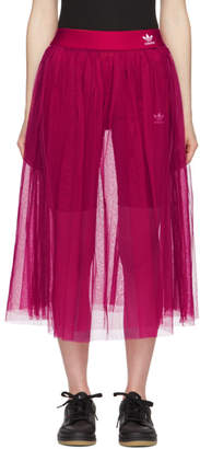 adidas Pink Tulle Adicolor Sleek Skirt