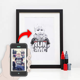 Hidden Image Direct Contemporary Personalised Stencil Portrait