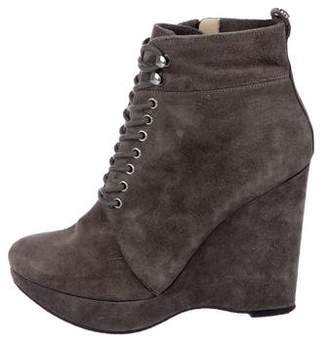 MICHAEL Michael Kors Suede Wedge Boots