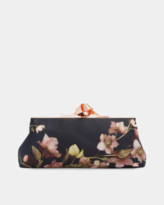Ted Baker NATALY Artboretum knotted clasp evening bag