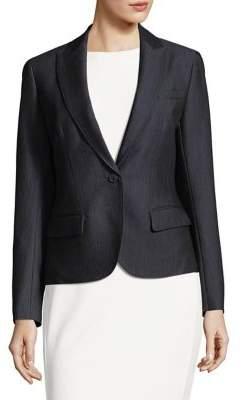 Anne Klein Denim Buttoned Blazer
