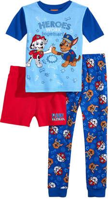 LTB Disney Juniors Paw Patrol Little & Big Boys 3-Pc. Cotton Pajama Set, Created for Macy's